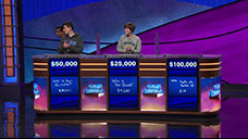 [Jeopardy! 2018 College Championship - Image of the final results #1]